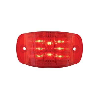 Grand General 76252 Red Rectangular Camel Back Wide Angle 14-LED Marker and Clearance Sealed Light: Automotive