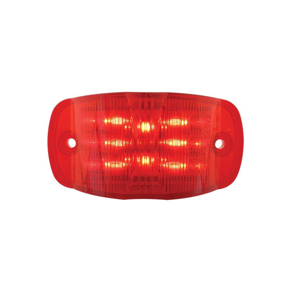 Grand General 76252 Red Rectangular Camel Back Wide Angle 14-LED Marker Sealed Light