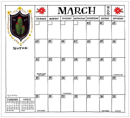 2018 Magnetic Calendar Pad, La Boutique De Cactus