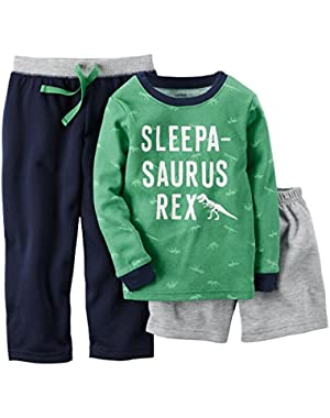 Carter's Baby Boy's 3-Piece Sleepasaurus Rex Pajama Set 18M Multicoloured