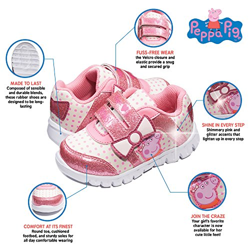 for Shoe Peppa Shoes Girls Running Sneaker Athletic Toddler Pig 11Uvqw6