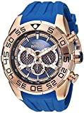 Invicta Men's 'Speedway' Quartz Stainless Steel and Silicone Casual Watch, Color:Blue (Model: 26305)
