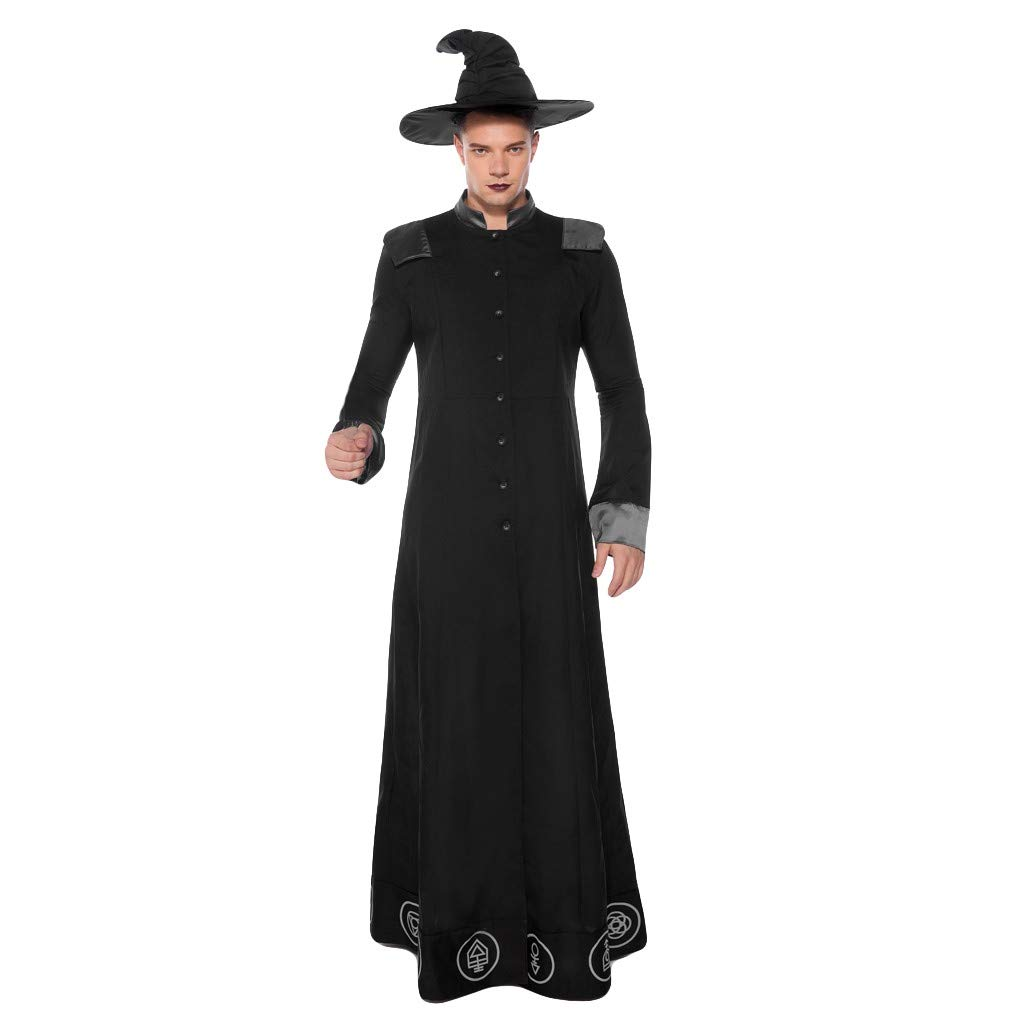 Men's Halloween Cosplay Wizard Medieval Costume Party Halloween Tunic Dress Up by Hatop-