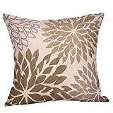 NUWFOR Living Series Cotton Linen Throw Pillow Cases Sofa Cushion Cover Home Decor(B)