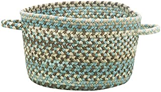 """product image for Capel Rugs Kill Devil Hill Braided Basket, 16 x 9"""", Tan Hues"""