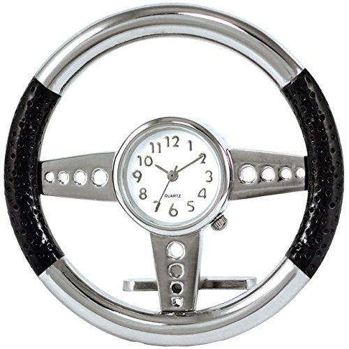 Steering Wheel Clock Novelty Desk