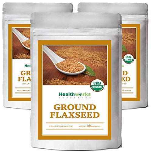 (Healthworks Flaxseed Ground Organic ColdMilled 6LB)