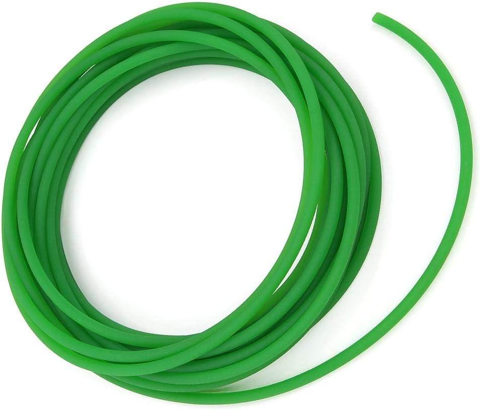 2mm*10m High-Performance Urethane Round Belting Polyurethane Round Belt Green Rough Surface for Drive Transmission