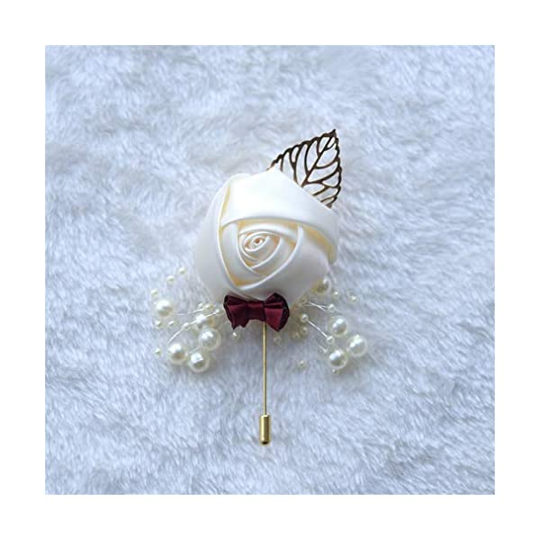 Acharm-Groom-Rose-Boutonniere-Corsage-for-Men-Lapel-Pin-Brooch-for-Wedding-Flowers-Party-Decoration-6-Pack-Cream