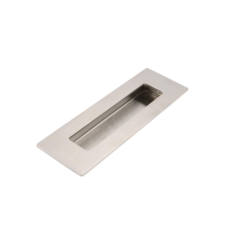 150 x 50 x 50 x 15 mm con viti a scomparsa in acciaio INOX spazzolato Goldenwarm Maniglia rettangolare da incasso per porta scorrevole