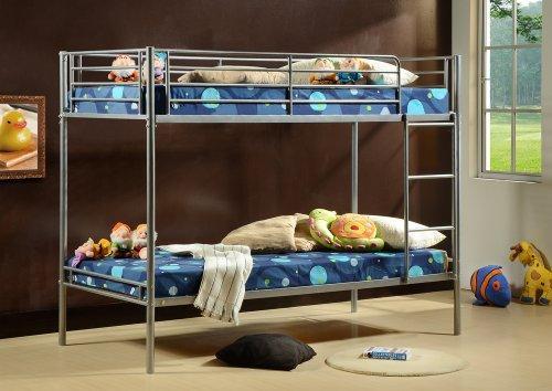 3ft Single Metal Bunk Bed - Twin Sleeper