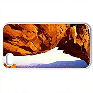 beautiful - Case Cover for iPhone 4 and 4s (Deserts Series, Watercolor style, White)