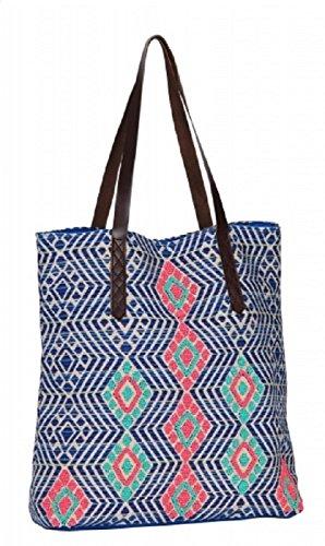 Tasche oben Baumwolle gewebt Motive geometriques CPxxDBTDuw