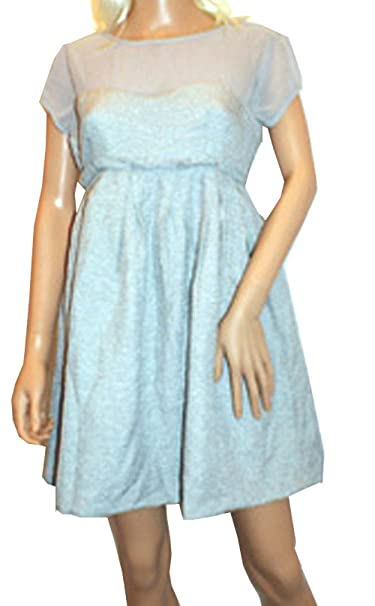 Primark - Vestido - vestido - Manga corta - para mujer Gris plateado