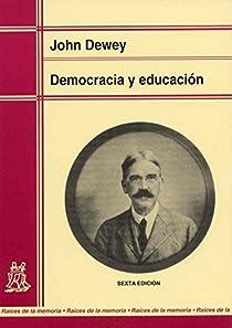 Democracia y educación par Dewey