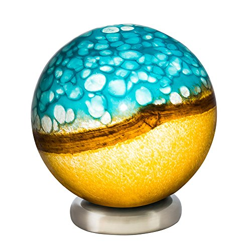 Blue Sand Blown Glass Round product image