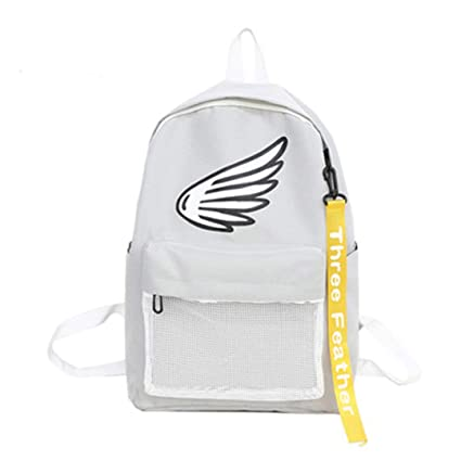 Amazon.com | Printed Wings Ms. Ribbon Canvas Travel Leisure Backpack | Casual Daypacks