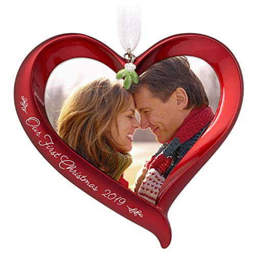 Hallmark Keepsake Ornament 2019 Year Dated Our First Christmas Heart Photo Frame (Hallmark Ornament First Christmas)