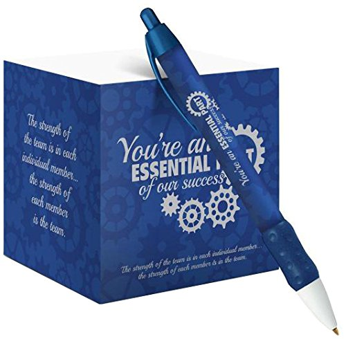 Successories 751447K You're An Essential Part Self-Stick Note Cube with Matching Pen (Parts Essential)