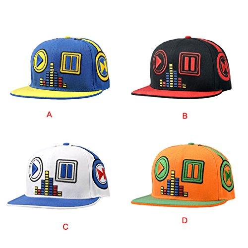 Voberry® Men's Snapback Baseball Cap Hip Hop Hat Dance Flat Bill Caps (B)