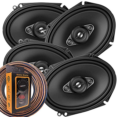 2 Pairs of Pioneer 5x7/ 6x8 Inch 4-Way 350 Watt Car Audio Speakers | TS-A6880F (4 Speakers) + Free EMB Premium Headphone