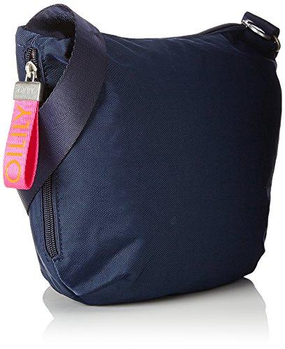 Oilily Fun Nylon Shoulderbag Svz - Borse a tracolla Donna, Blau (Dark Blue), 8x22x31 cm (B x H T)
