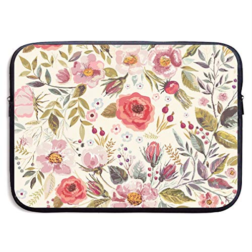 - LiaanQianga Flowers Roses Petals Dots Leaves 13-15 Inch Laptop Sleeve Bag - Tablet Clutch Carrying Case,Water Resistant, Black