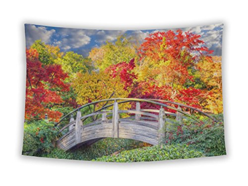 Gear New Wall Tapestry For Bedroom Hanging Art Decor College Dorm Bohemian, Fort Worth Moon Bridge In Japanese Gardens, 60x51
