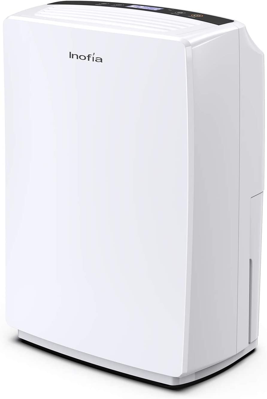 Inofia 30 Pint Dehumidifier for Home Bedroom/Kitchen/Living Room/Bathroom, Compact Electric Dehumidifiers for Quiet & Efficient Intelligent Humidity Control on Small/Medium Rooms up to 1000 sq ft
