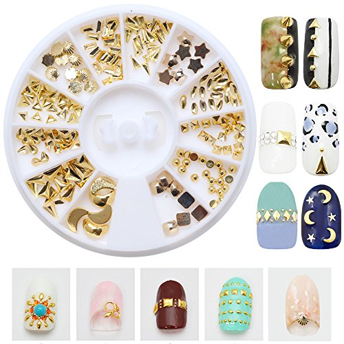 Joyeee 12 Styles 3D Nail Art Decoration Glitter Alloy Rhinestone Wheel - Pro Art Decorations Mix Design Nail Decor Accessories