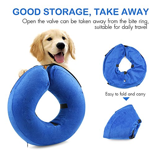 ONSON Protective Inflatable Dog Collar, Soft Pet Recovery E-Collar Cone for Small Medium Large Dogs,...