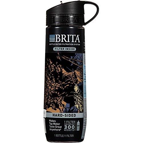 Brita Hard Sided Water Filter Bottle, Camo, 23.7 oz, BPA Fre