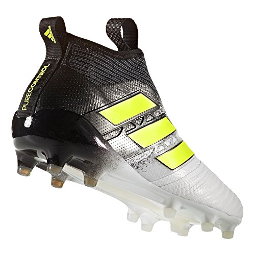 Ace Footwear adidas FG Black 17 White Cleats Core Men's Soccer Solar Yellow Purecontrol 557q0xr