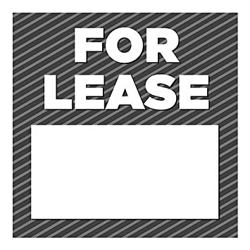 for Rent 24x12 5-Pack Basic Gray Window Cling CGSignLab