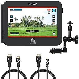 Atomos ATOMNJA003 Ninja-2 10-Bit HDMI DSLR Video Hard Disk Field Recorder, Caltar 11\