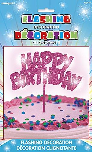 Flashing Happy Birthday Topper Decoration