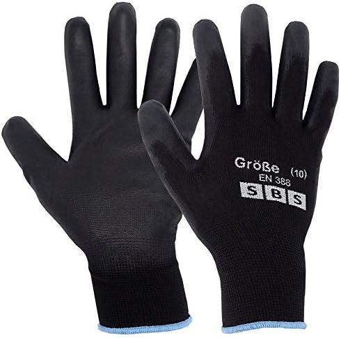 12 pares de guantes de nailon SBS, talla 7 hasta 11, guantes de trabajo, guantes de protección: Amazon.es: Bricolaje y herramientas