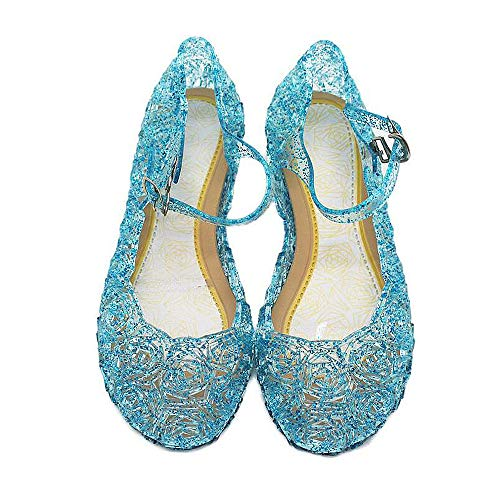 Qinyue.JF Baby Girls Soft Crystal Plastic Shoes Children's Princess Shoes,Jelly Shoes
