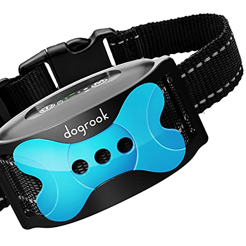 DogRook Rechargeable Dog Bark Collar – Humane, No Shock Barking Collar – w/2 Vibration & Beep Modes – Small, Medium…
