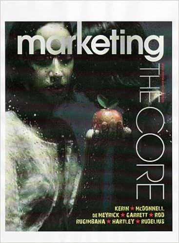 Marketing the core roger a kerin et al 9780074716182 amazon marketing the core roger a kerin et al 9780074716182 amazon books fandeluxe Choice Image