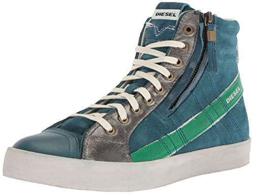 Diesel Mens D-Velows D-String Plus Mono Sneaker Legion Blue/Jelly Bean
