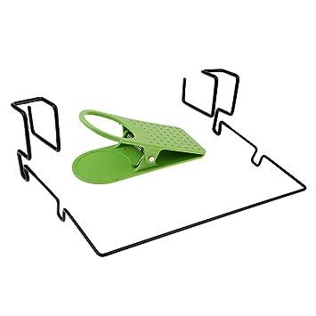 IPOTCH 2 Piezas Soporte para Escritorio de Taza de Agua Picnic Camping Portavasos con Clip: Amazon.es: Jardín