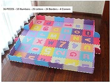 Suelo de Goma EVA Suave Verde qqpp Alfombra Puzzle para Ni/ños Bebe Infantil Azul 30*30*1cm 18 Piezas Gris.QQC-GHLb18N