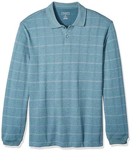 (Van Heusen Men's Flex Jaspe Polo Shirt, Stargazer Plaid, Medium)