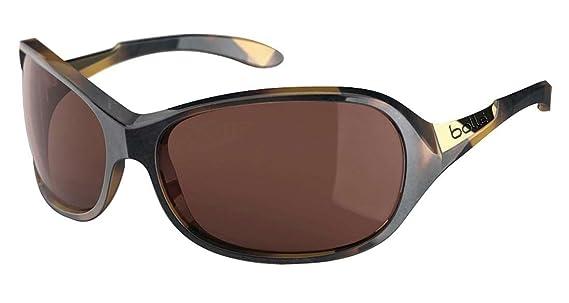 Bolle Womens Grace Sunglasses, Polarized A14 AF, Shiny Tortoise