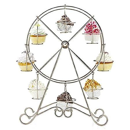 Soledi Bandeja para Tartas Rueda de la Fortuna Soporte de Cupcakes Plato Alimento Estante para Fiesta Boda: Amazon.es: Hogar