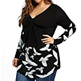 Lady Plus Size Top,NEWONESUN Womens Long Sleeve T-Shirt Casual Blouse Summer