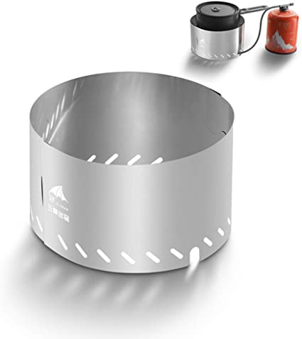 Lixada Parabrisa Plegable para Estufa de Gas Pantalla de Viento Accesorio Estufa de Camping