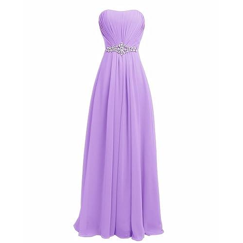 FAIRY COUPLE Women Strapless Bridesmaid Evening Dresses D004