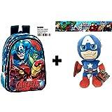 "Plush toy Captain America 12""/30cm Quality soft + Children's Backpack 37cm"